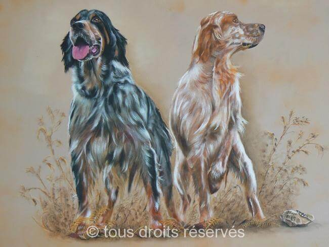 stan et feel chiens setter anglais jo b vin artiste peintre animalier. Black Bedroom Furniture Sets. Home Design Ideas